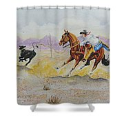 Ropin' A Dogie Shower Curtain