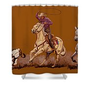 Ropin Pardners Shower Curtain