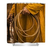 Roping Broncos Shower Curtain