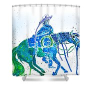 Roping Horse Shower Curtain