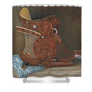 Roping Saddle Shower Curtain