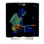 Saturated Blues Rock Shower Curtain