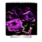 Rosa Fire Shower Curtain