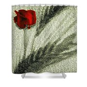 Rosa Roja Shower Curtain