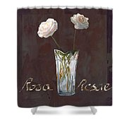 Rosa Rosae Shower Curtain by Guido Borelli