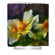 Rosa Rubiginosa Shower Curtain