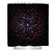 Rosace - Rose Nebula Shower Curtain