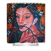 Rosales Latina Shower Curtain