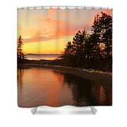 Rosario Beach Sunset Shower Curtain