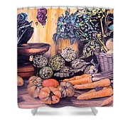 Rosas Stand Shower Curtain