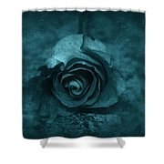Rose - Green Shower Curtain