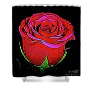 Rose 18-9 Shower Curtain