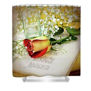 Rose And Bottle Shower Curtain