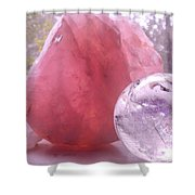 Rose And Clear Quartz 1 Shower Curtain