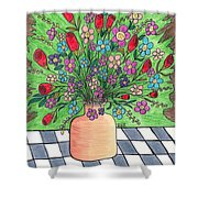 Rose And Flowers Shower Curtain