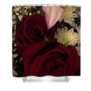 Rose And Lily Shower Curtain
