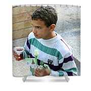 Rose And Tea Shower Curtain