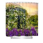 Rose Arbor At Sunset Shower Curtain