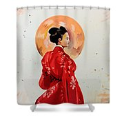 Rose Asia Shower Curtain