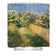 Rose Bay Road Valencia Shower Curtain