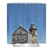 Rose Blanche Lighthouse II Shower Curtain