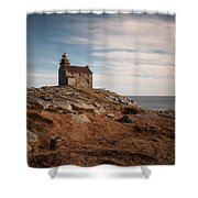 Rose Blanche Lighthouse Shower Curtain