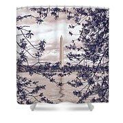 Rose Blossom Monument Shower Curtain