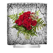 Rose Bouquet Shower Curtain by Elena Elisseeva