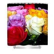 Rose Bouquet Painting Shower Curtain