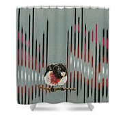 Rose Breasted Grosbeak And Song Shower Curtain