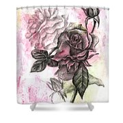 Rose Bud Pink Shower Curtain
