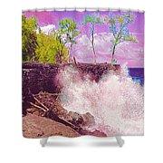 Rose Colored Splash At Mackenzie Shower Curtain
