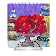 Rose Covered Cake Shower Curtain