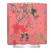Rose Diffused Shower Curtain