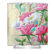 Rose Diptych 2  Shower Curtain
