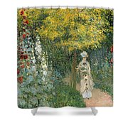 Rose Garden Shower Curtain by Claude Monet