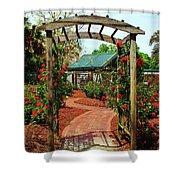 Rose Garden Entrance Shower Curtain