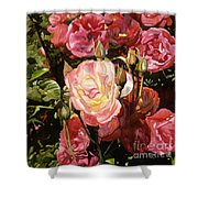 Rose Garden Shower Curtain by Teri Starkweather