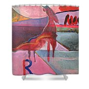 Rose Horse Shower Curtain