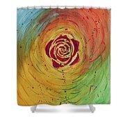 Rose In Vorteks Shower Curtain