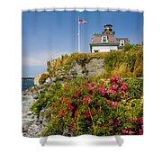 Rose Island Roses Shower Curtain