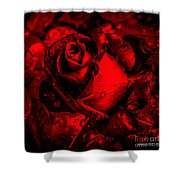 Furious Rose Magic Red Shower Curtain