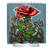 Rose N Thorns Shower Curtain