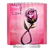 Rose Of Hope Shower Curtain