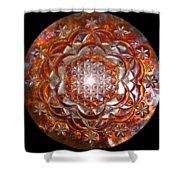 Rose Of Life Copper Lightmandala Shower Curtain