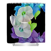 Rose Of Sharon Painted Shower Curtain