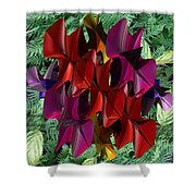 Rose Orchid Shower Curtain