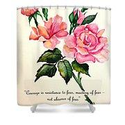 Rose Poem Shower Curtain