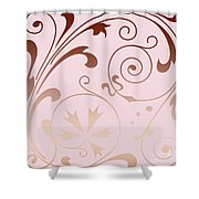 Rose Quartz Gold Komingo Shower Curtain
