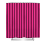 Rose Red Striped Pattern Design Shower Curtain